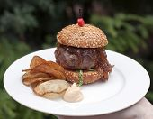Mini Burger From The Czech Black Angus Rib With Confit
