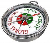Calentamiento globales de energía verde Vs