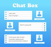 Vector Chat Interface. Sms Messages. Speech Bubbles. Short Message Service Bubbles. Flat Interface.  poster