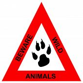 Beware wild animals