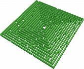 3D green maze