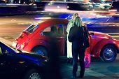 Abstract Night Traffic-night Of The Girlfriend