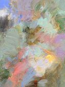 Oil Paint Glazes And Acrylics On Hardboard