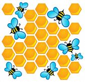picture of honey bee hive  - Bee theme image 1  - JPG