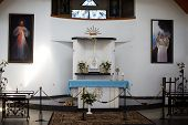 The Altar In The Chapel In Suodziai Village