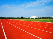 Running Track For The Athletes Background, Athlete Track Or Running Track poster