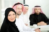 Successful and happy business arabic people sitting for a meeting