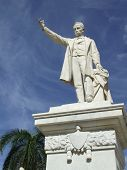 Jose Marti Statue Closeup In Cienfuegos Central Park