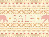 Summer Sale. Seamless Knitted Pattern With Bears