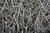 Background From The Heap Of Small Iron Nails