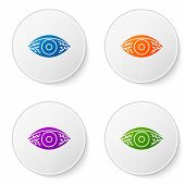 Color Reddish Eye Due To Viral, Bacterial Or Allergic Conjunctivitis Icon Isolated On White Backgrou poster