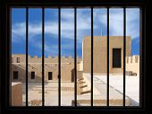 Inside view from the window at II level of the Riffa Fort Bahrain