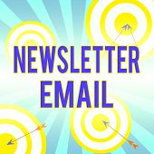 Writing Note Showing Newsletter Email. Business Photo Showcasing Email Sent To Subscribers Informing poster
