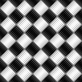 Black And White Seamless Diagonal Square Pattern Background - Abstract Monochrome Vector Graphic Fro poster