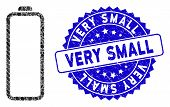 Mosaic Empty Battery Icon And Distressed Stamp Seal With Very Small Phrase. Mosaic Vector Is Compose poster