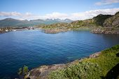 Beautiful Fjord View At The Famous Tourist Attraction Hamn Village, Senja Island, Troms County - Nor poster