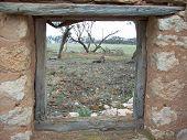 Window of a ruined house, South Australia