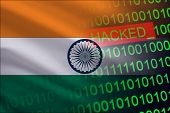 India Hacked State Security. Cyberattack On The Financial And Banking Structure. Theft Of Secret Inf poster