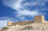 South western wall of Riffa fort Bahrain