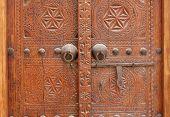 Ancient door latch in Riffa fort Bahrain
