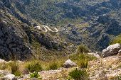 Coll Dels Reis - Mountain Pass Located On The Northwest Coast Of The Spanish Balearic Island Of Majo poster