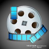 illustration of film reel on abstract background