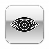 Black Reddish Eye Due To Viral, Bacterial Or Allergic Conjunctivitis Icon Isolated On White Backgrou poster