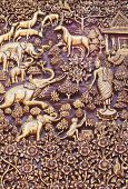 Wood Carving In The Temple.