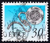 Postage stamp Ireland 1990 Enamel Latchet Brooch