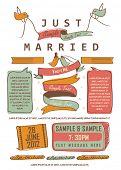 Letterpress Just Married