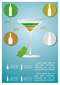 martini cocktail infographics
