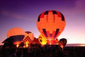Nighttime Hot Air Balloons