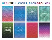 Beautiful Cover Backgrounds. Adorable Geometric Patterns, Sublime Vector Illustration. poster