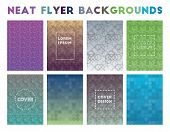 Neat Flyer Backgrounds. Adorable Geometric Patterns, Stunning Vector Illustration. poster
