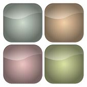 Set Of Rounded Square Pastel Stripes Icons