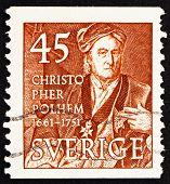 Postage stamp Sweden 1949 Christopher Polhem, Scientist and Inve