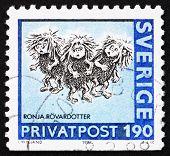 Postage stamp Sweden 1987 Ronja Rovardotter
