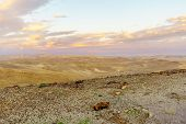 Sunset View Of The Judaean Desert And The Dead Sea, From Moab Viewpoint, Southern Israel poster