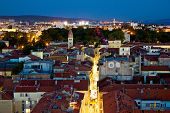Zadar Peninsula Calle Larga Panorama In Evening