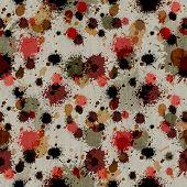 Wildy Splattered Grungy Background
