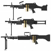 stock photo of m60  - Layered vector illustration of different Machine Gun - JPG