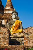 Buddha statue at wat yai chaimongkhon