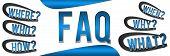 FAQ Banner Blue