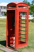 pic of west indies  - A red phone booth in Independence Square in St - JPG