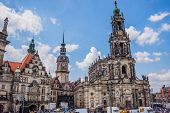 Panorama Of Dresden, Germany. Cityscape. Skyline