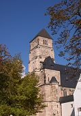 A church in autumn