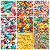 Colorful Collage Of Various Candies And Sweets