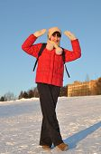 Girl Posing In Winter