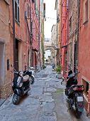 La calle con Scooters