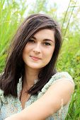 Beautiful Young Girl In Summer Fields